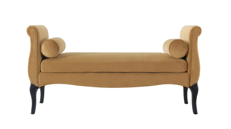Olivia Roll Arm Entryway Bench