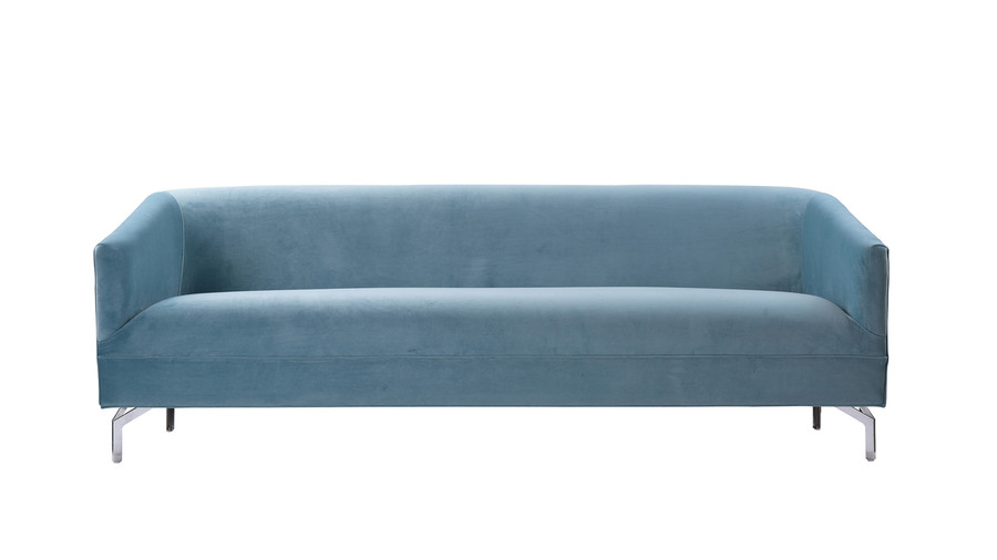 Elaine Tight Back Sofa, Arctic Blue