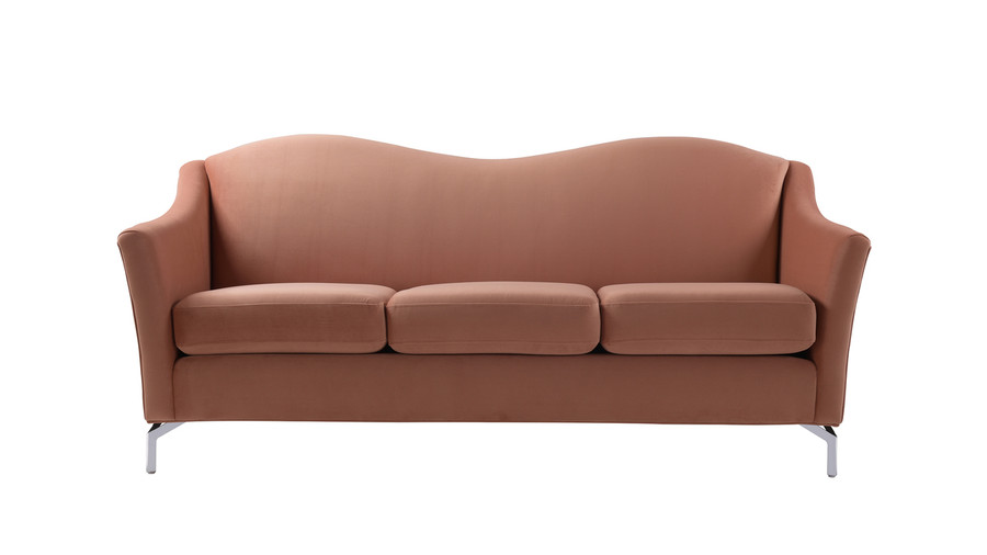 Vincent Camelback Sofa, Orange