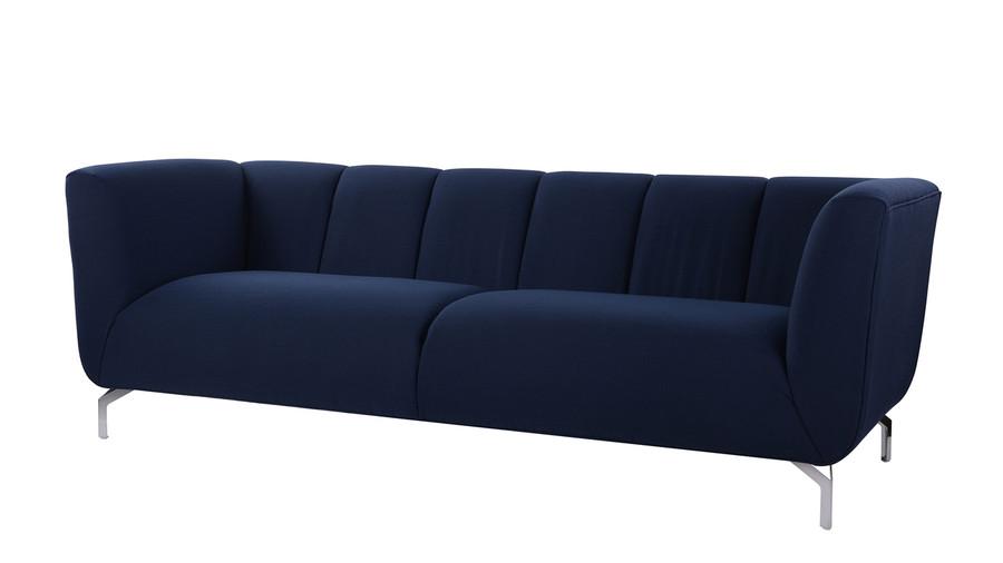 Abella Modern Contemporary Sofa, Midnight Blue - Jennifer Taylor Home