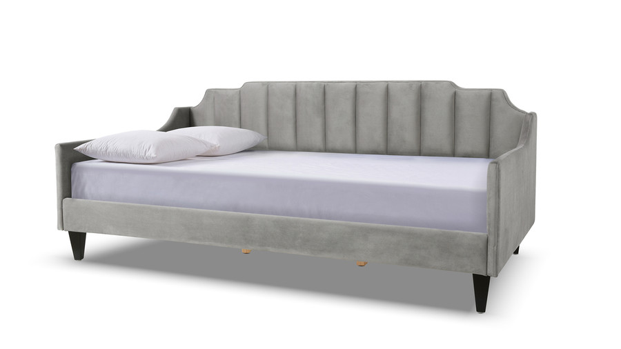 Edgar Channel Tufted Sofa Bed Daybed, Opal Grey
