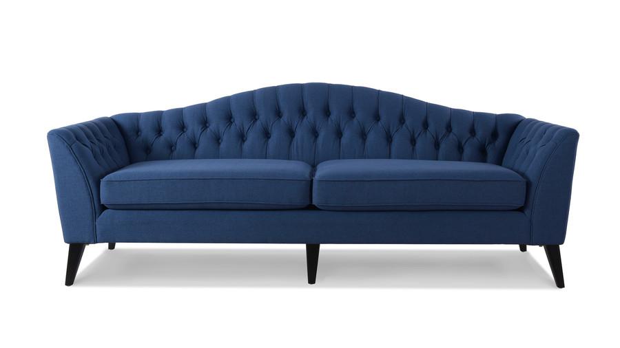 Ramsey Camelback Sofa, Dark Sapphire Blue