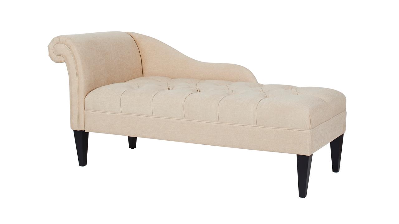 Harrison Tufted Chaise Lounge Beige Jennifer Taylor Home