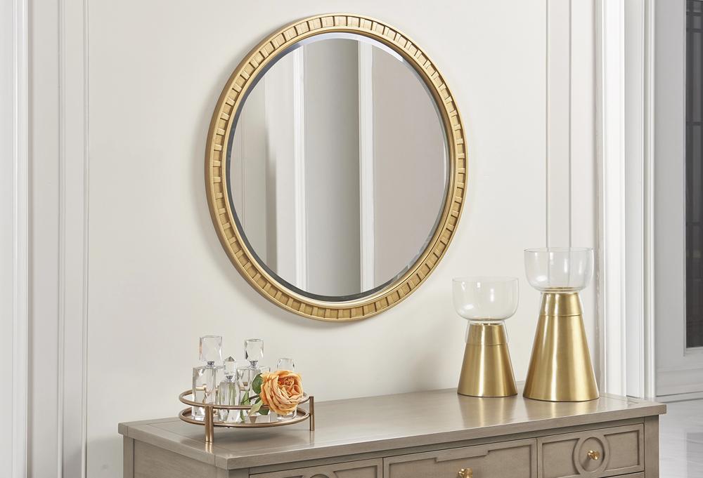 Dauphin Round Gold Accent Mirror