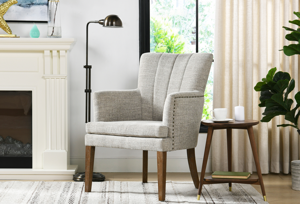 Ezra Upholstered Accent Arm Chair
