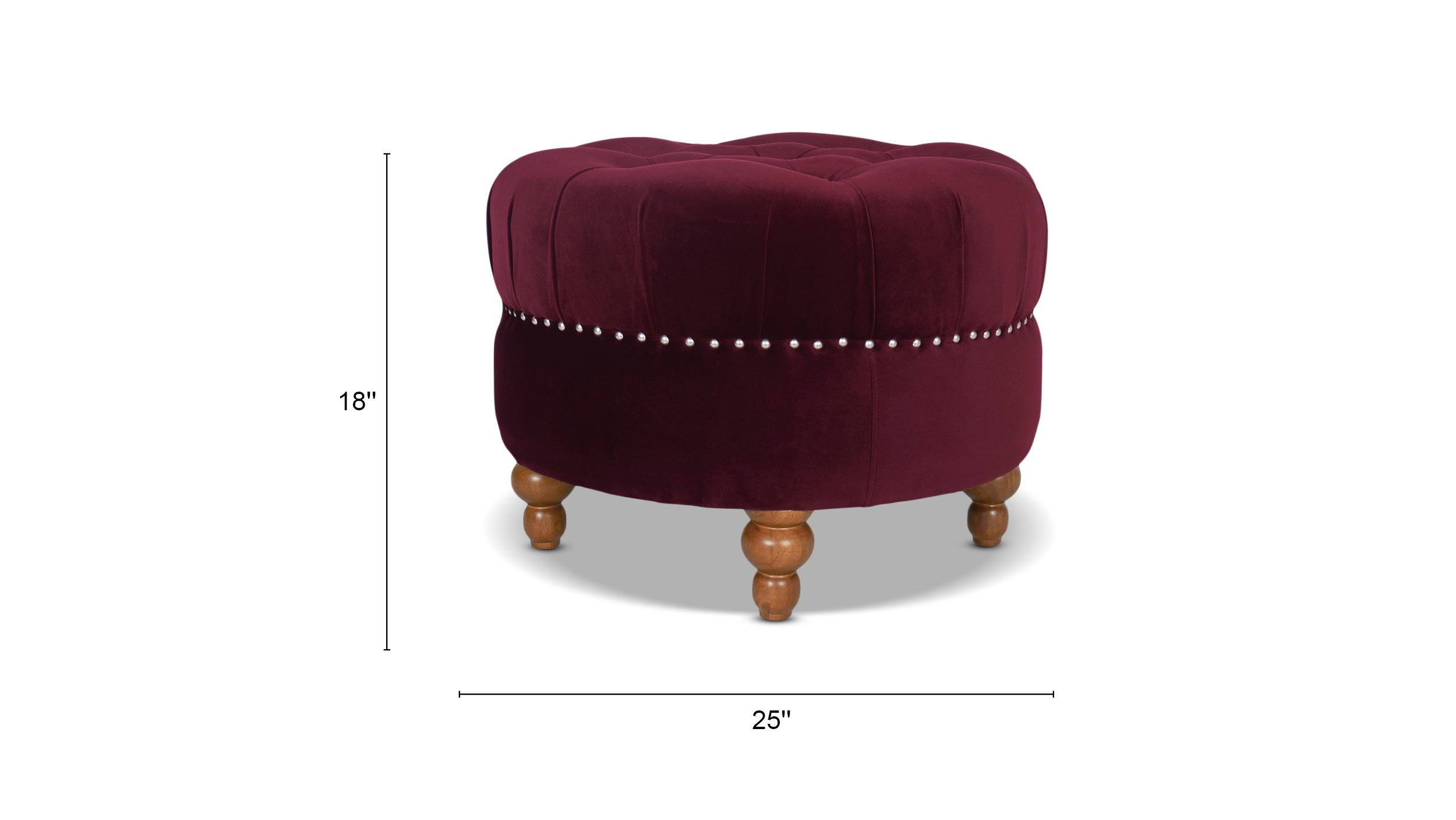La Rosa Tufted Round Ottoman