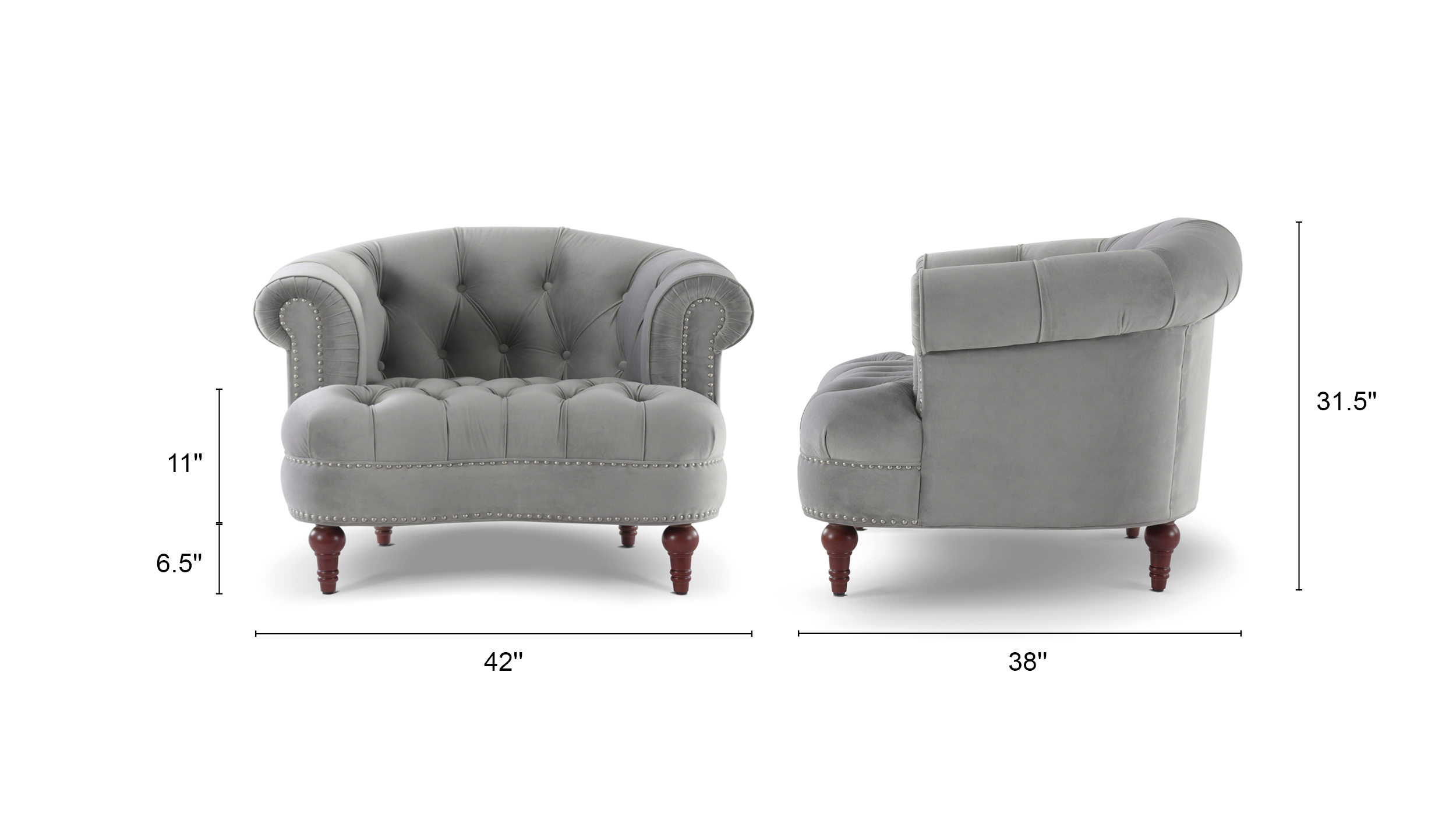 La Rosa Tufted Accent Chair
