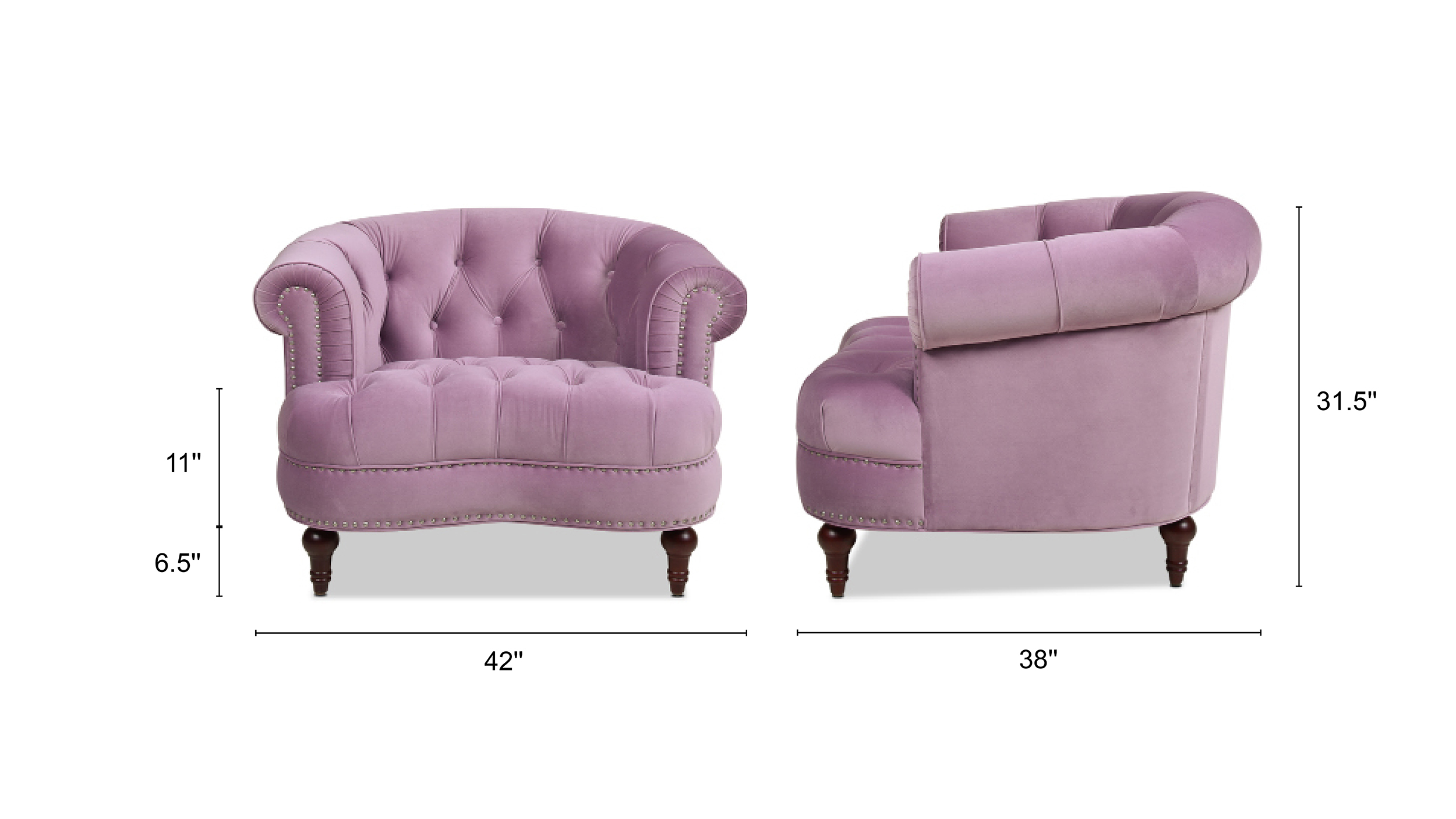 La Rosa Tufted Accent Chair