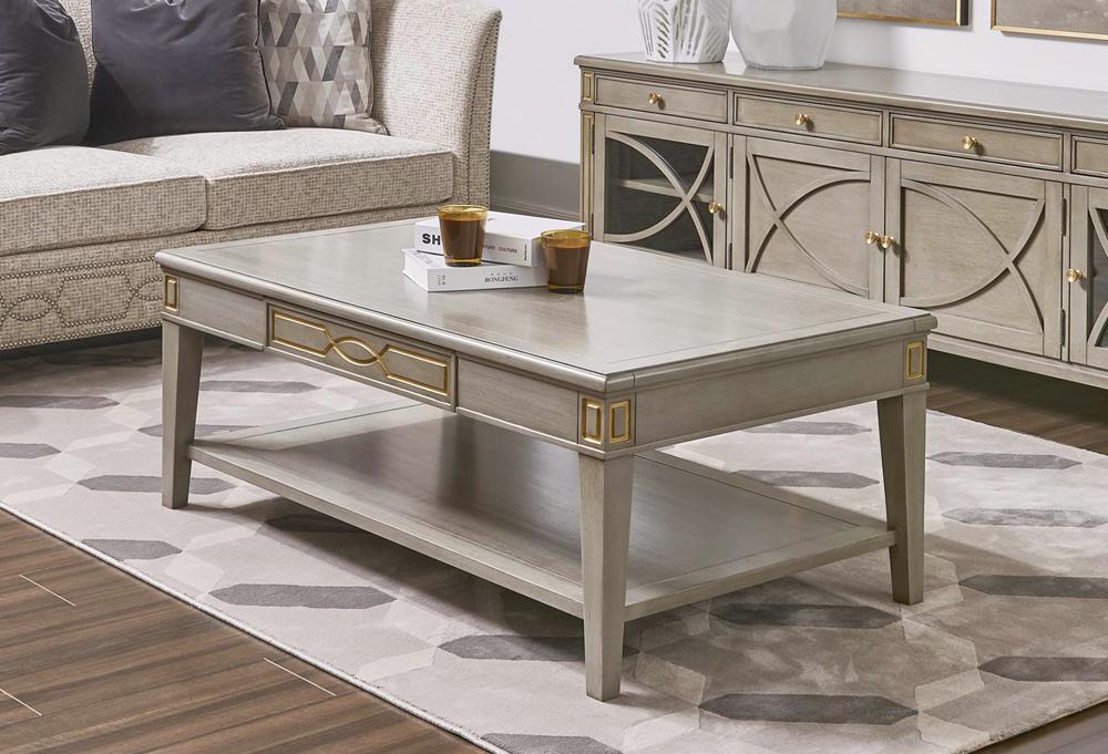 Dauphin Rectangular Storage Coffee Table