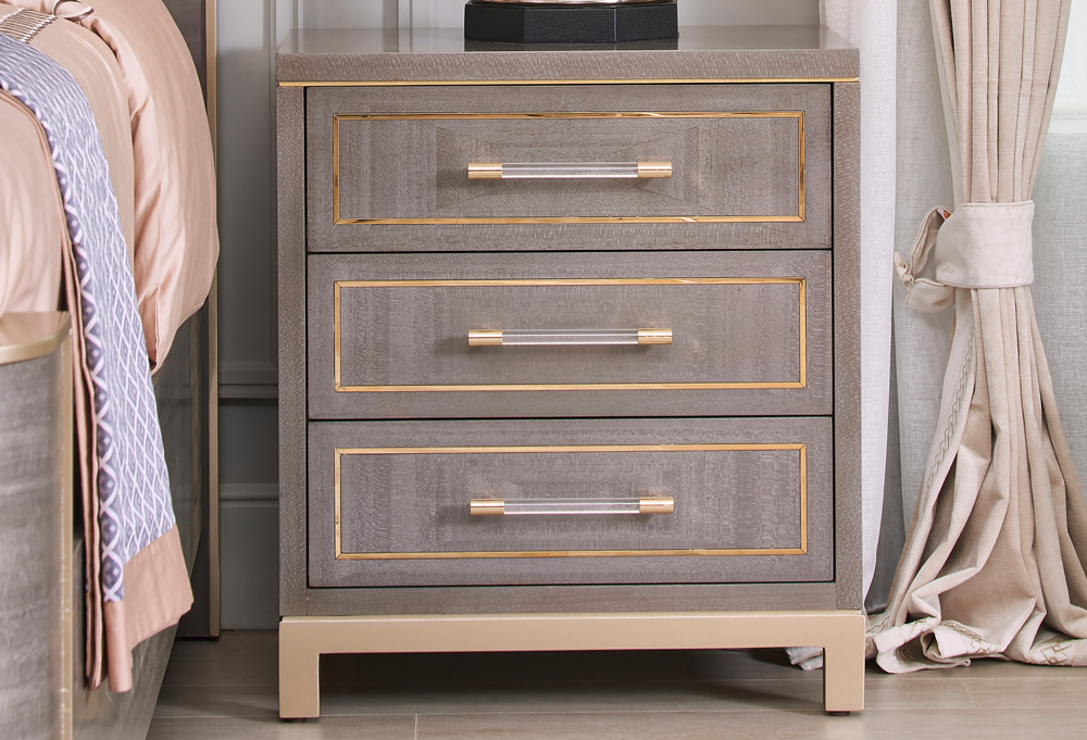 Roland 3-Drawer Storage End Table