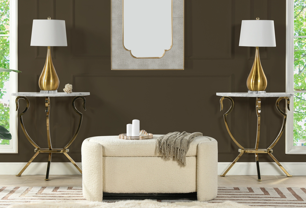 Athens Half Moon Wall Console Table