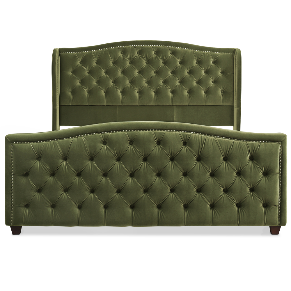 Marcella Tufted Wingback Upholstered Bed