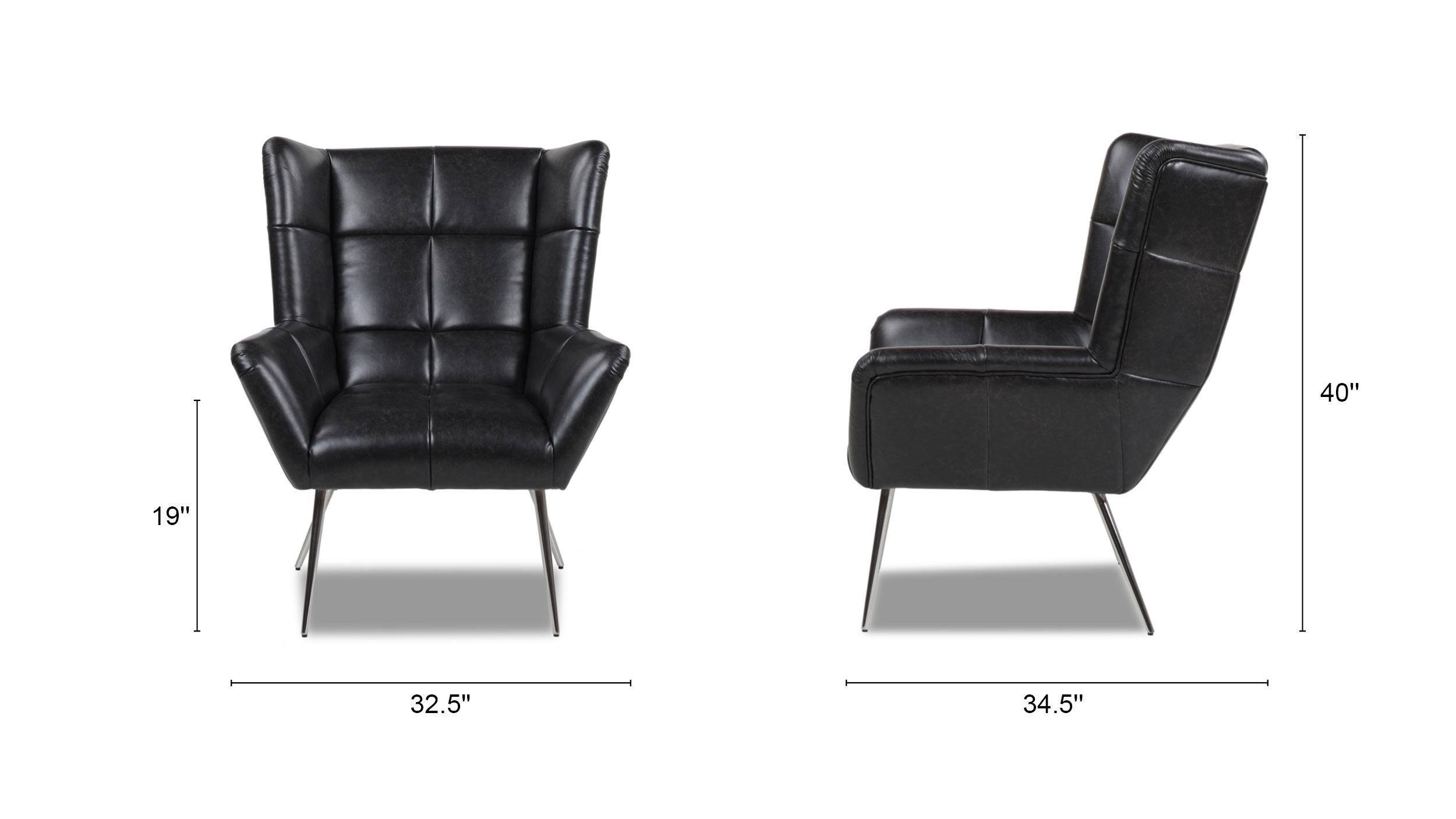 Gerald Mid-Century Modern Tufted Wingback Armchair