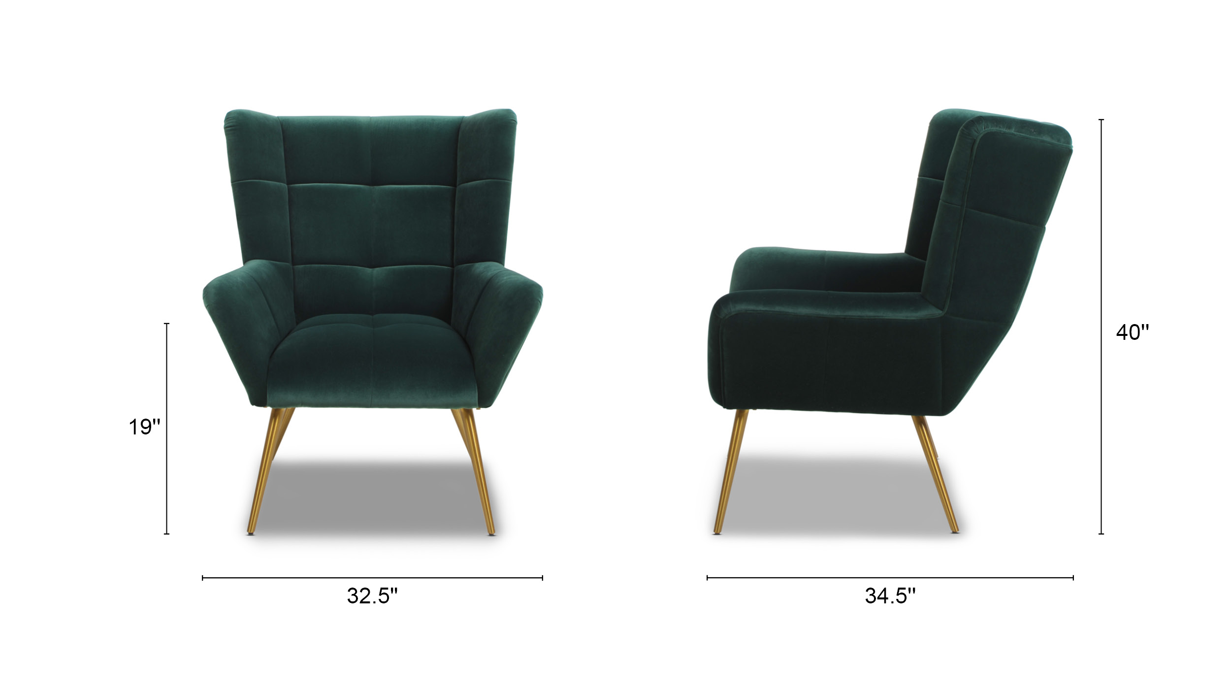 Gerald Mid-Century Modern Tufted Wingback Armchair