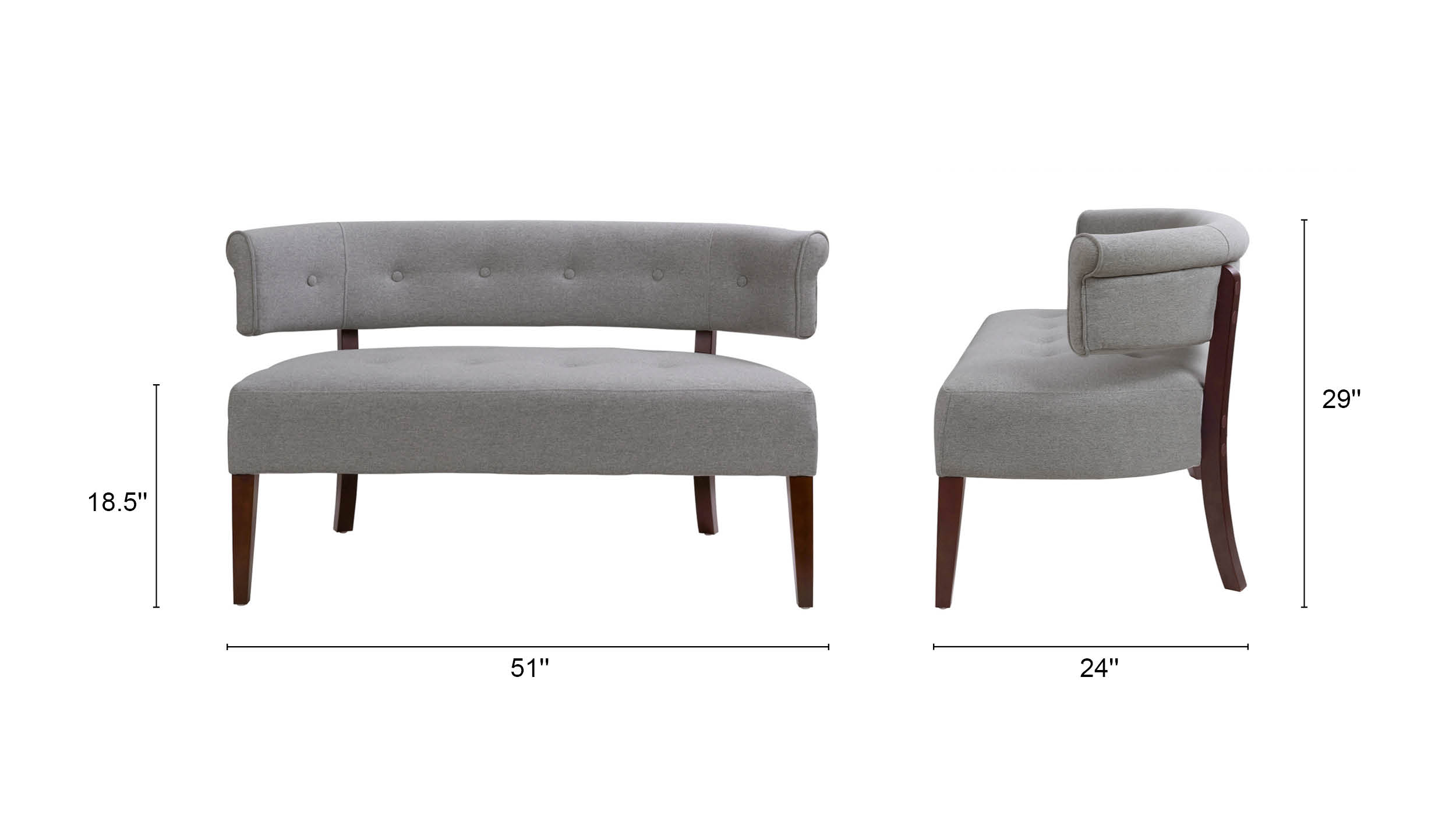 Jared Tufted Bench