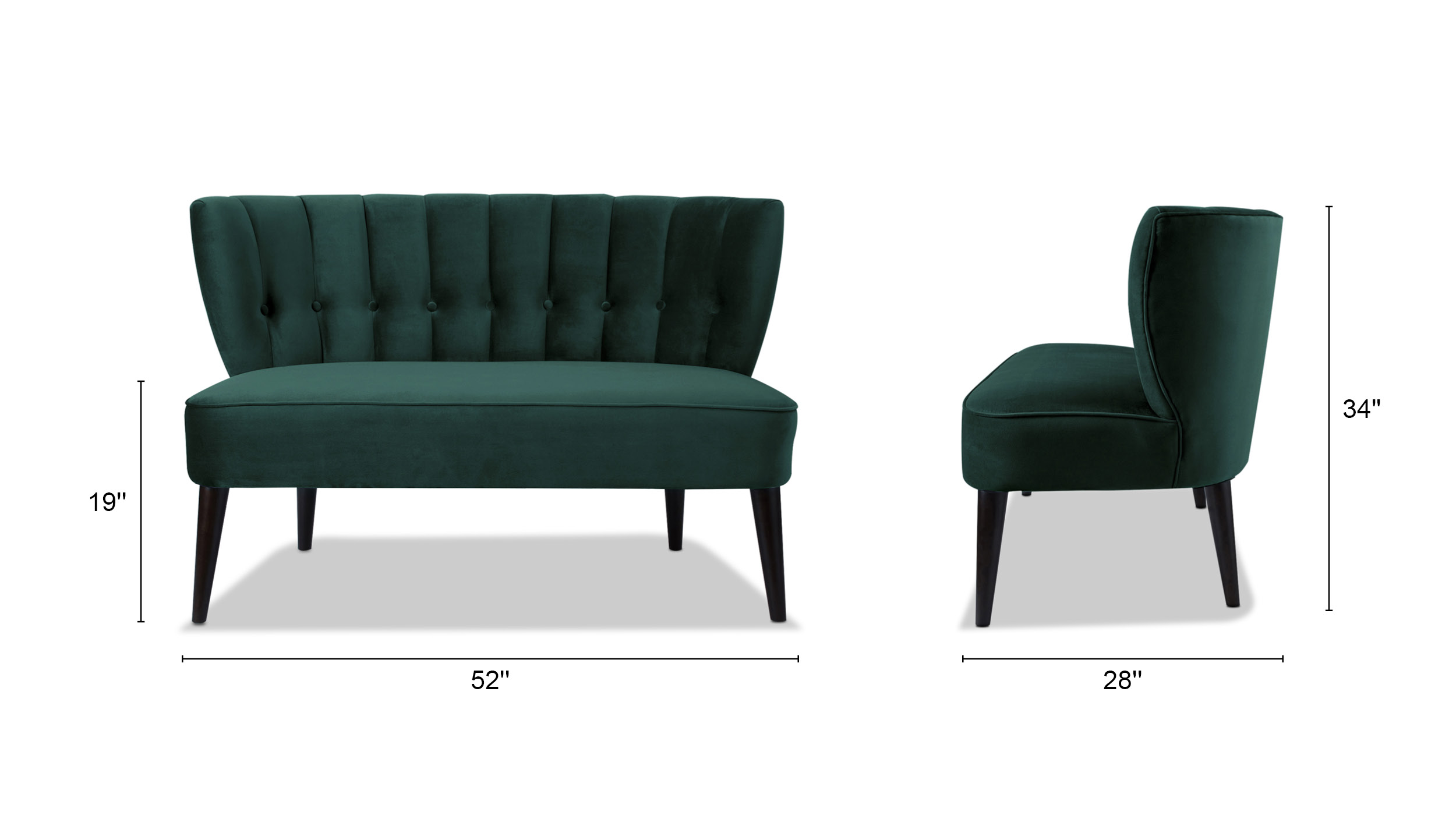 Becca Tufted Settee