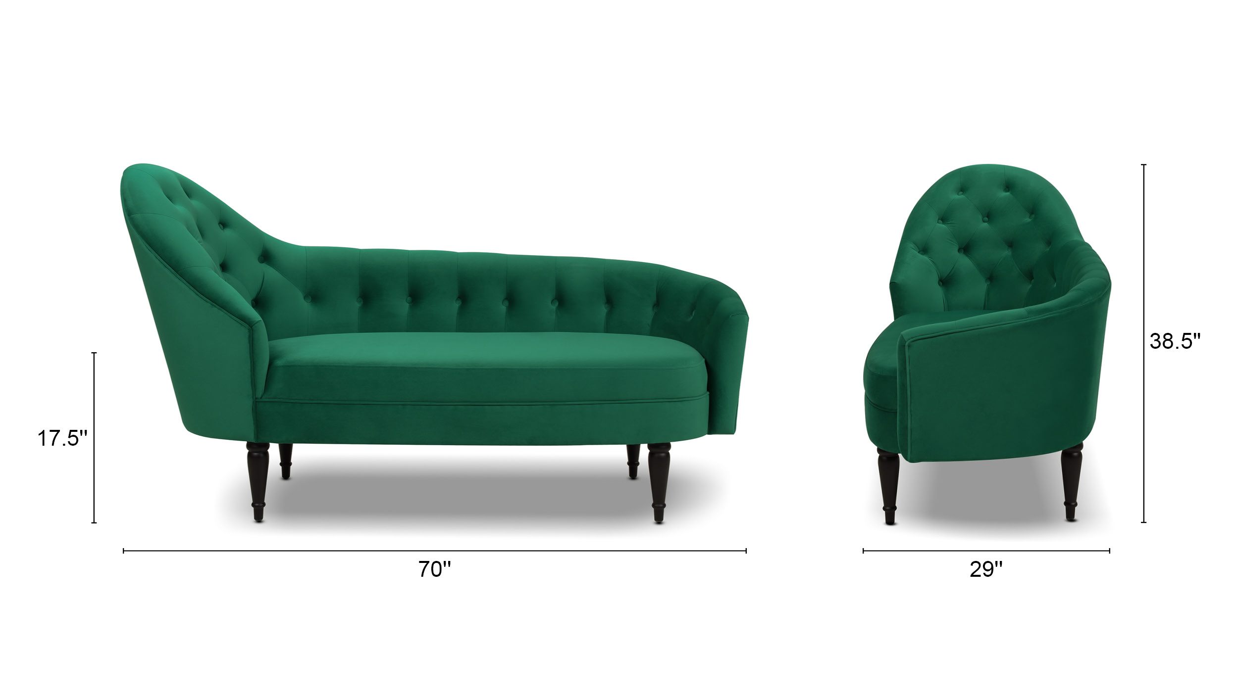 Kayleigh Tufted Chaise Lounge