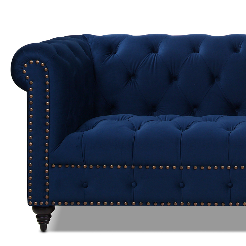 Alto Tufted Chesterfield Sofa, Navy Blue