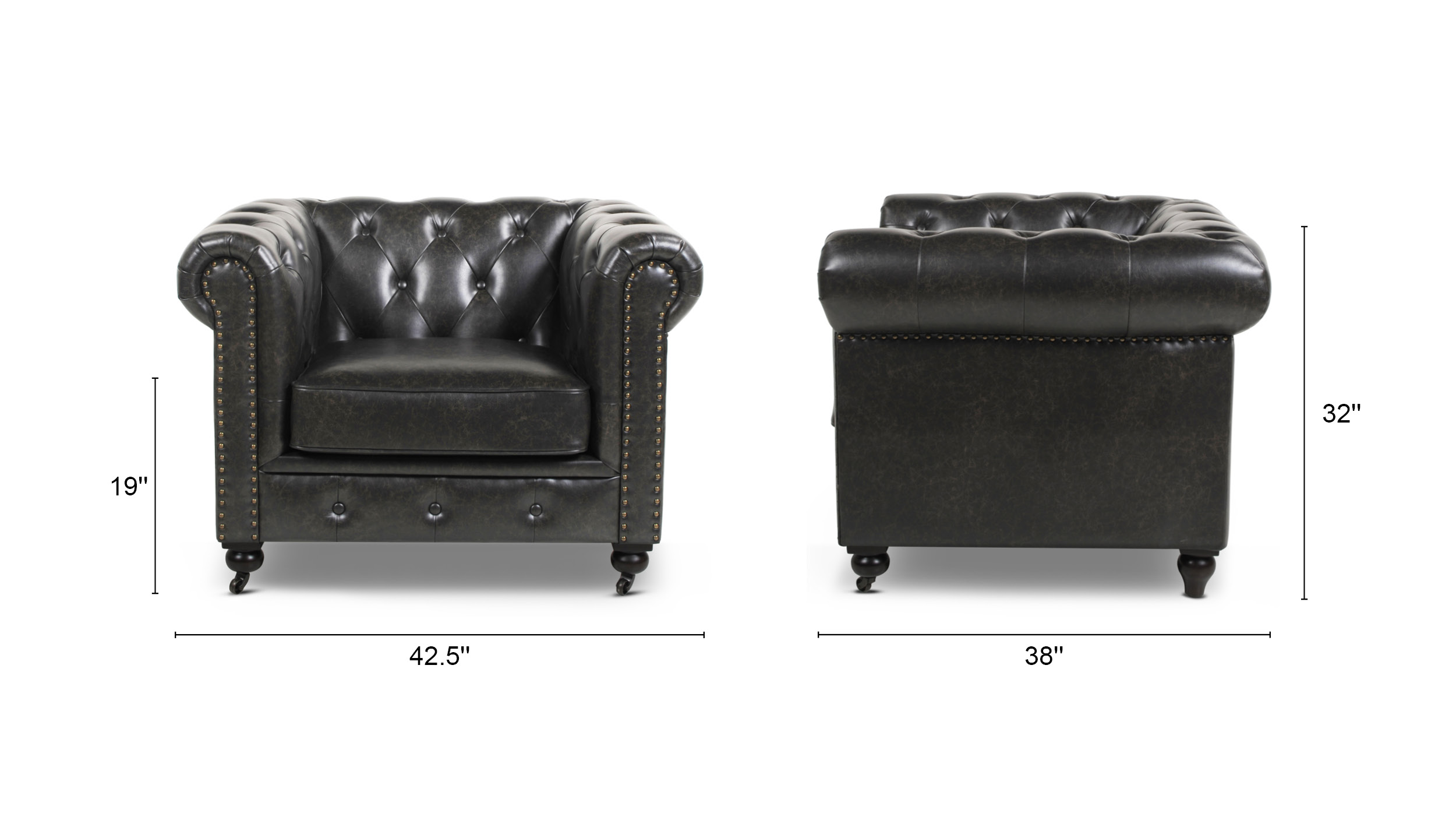 Winston Leather Chesterfield Armchair
