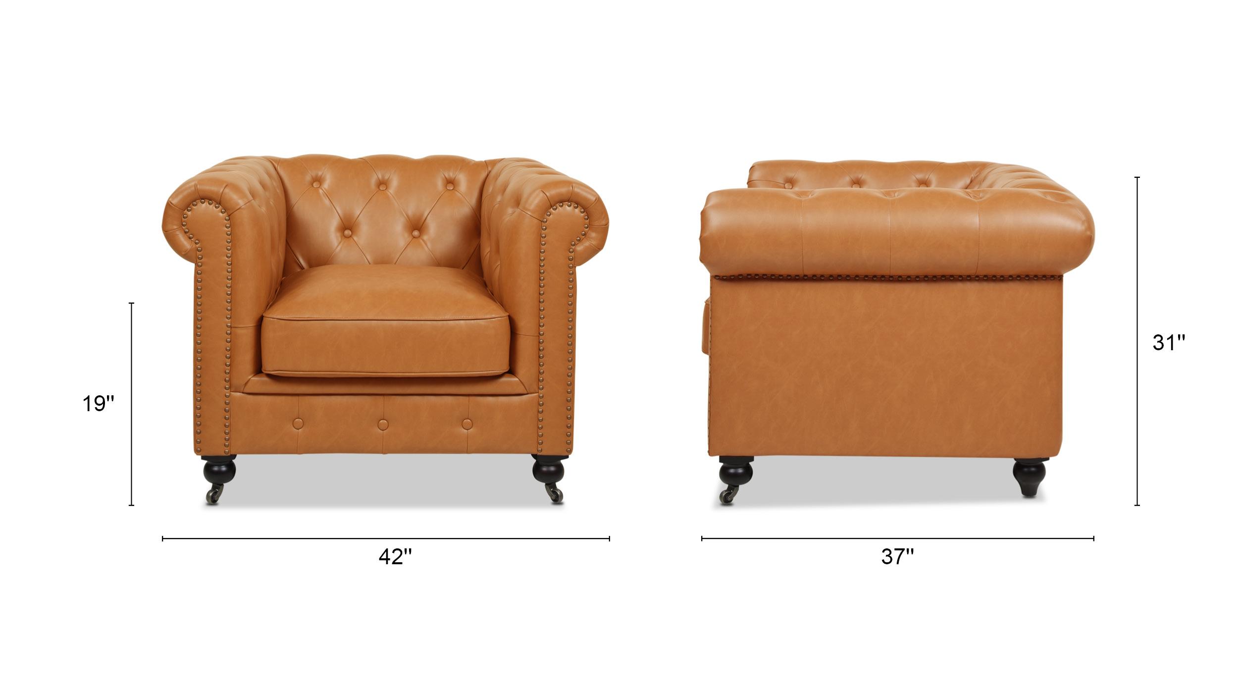 Winston Leather Chesterfield Armchair