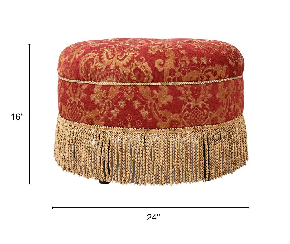 Yolanda Decorative Round Ottomane