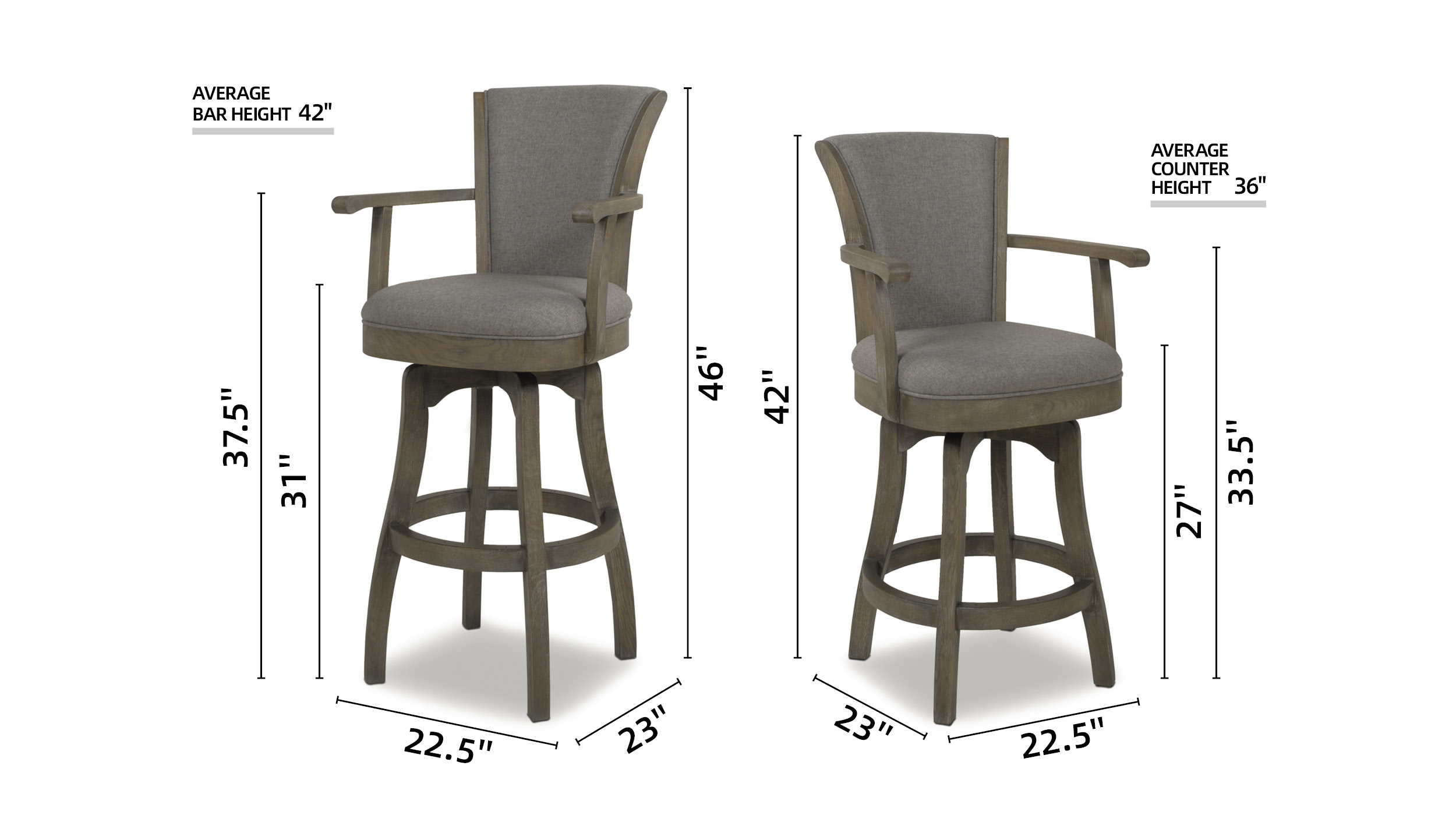 "Williams 26"" Swivel Bar Stool"