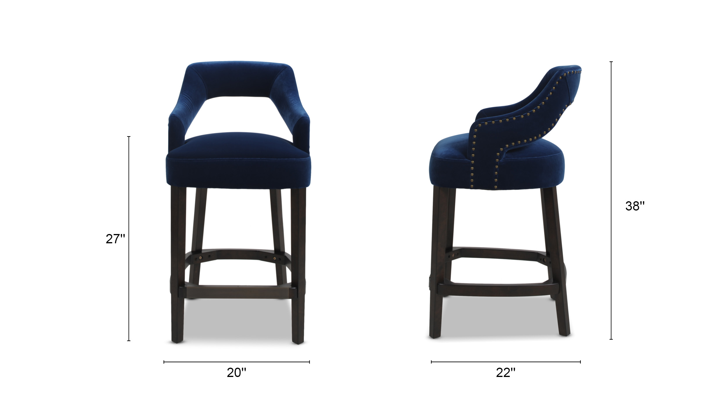 Moderne Upholstered Bar Stool