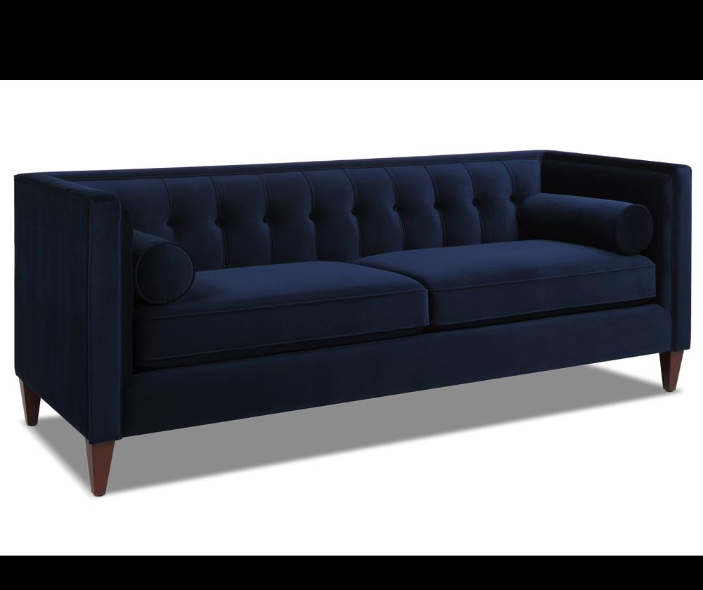 Jack Tuxedo Sofa, Dark Navy Blue