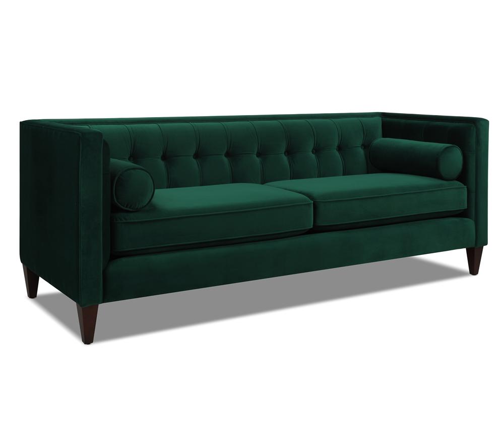 Jack Tuxedo Sofa, Hunter Green