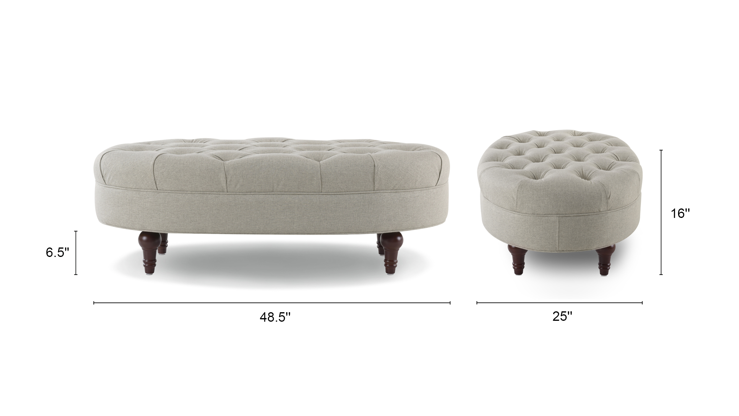 Petra Tufted Accent Bench