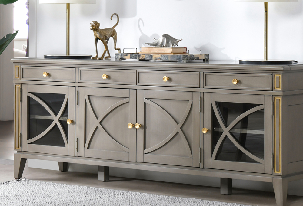 Dauphin TV Stand Storage Display Console Table