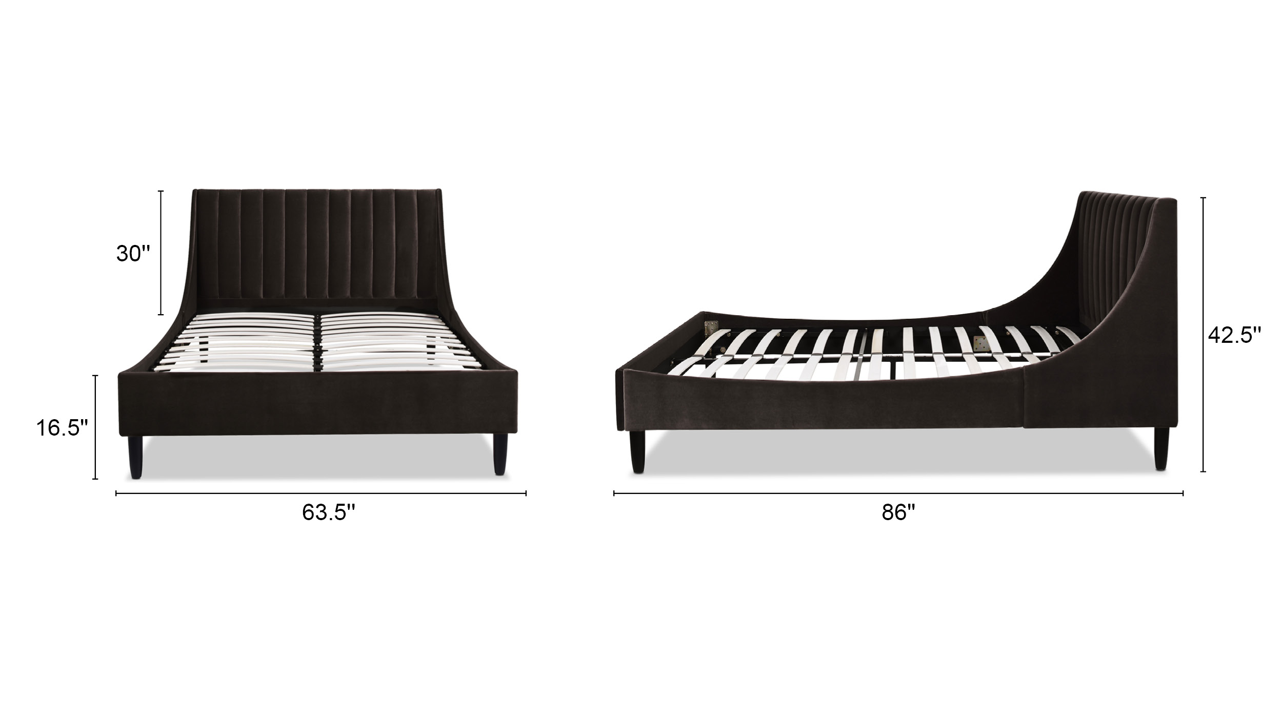 Aspen Upholstered Platform Bed