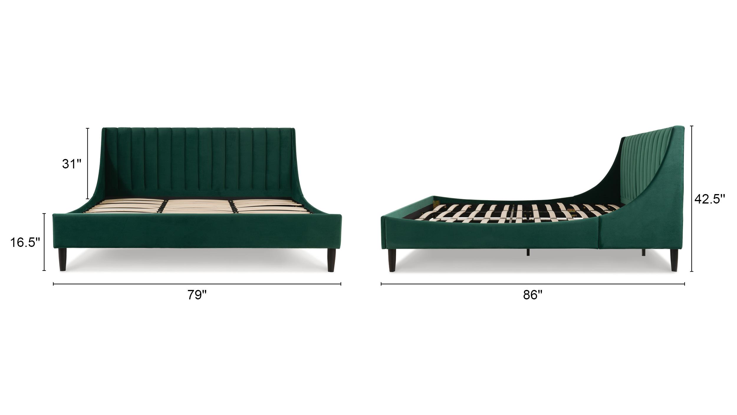 Aspen Upholstered Platform Bed, King