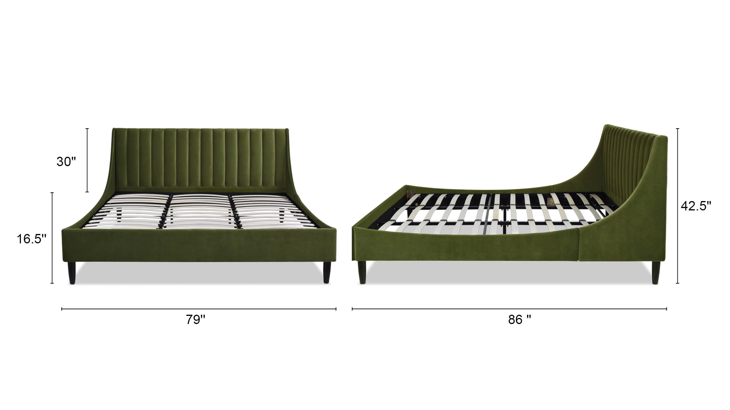 Aspen Upholstered Platform Bed