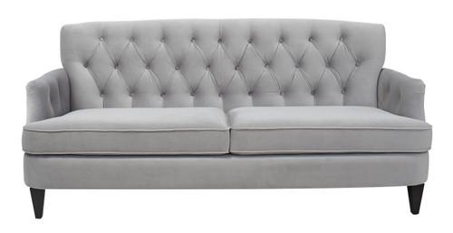Kelly Hand Tufted Sofa Opal Grey Jennifer Taylor Home