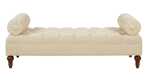 Lewis Bolstered Lounge Entryway Bench Parchment