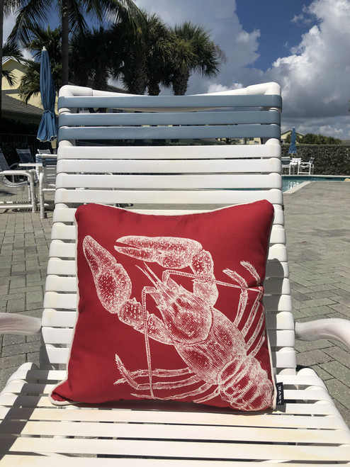 Lobster Pillow Indoor Style 18 x 18