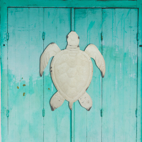 Antique Sea Turtle Metal Wall Art CA042