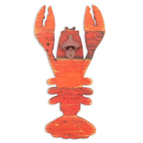 Wooden Lobster Wall Bottle Opener CF019