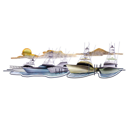 Coastal Marina Metal Wall Sculpture MM211