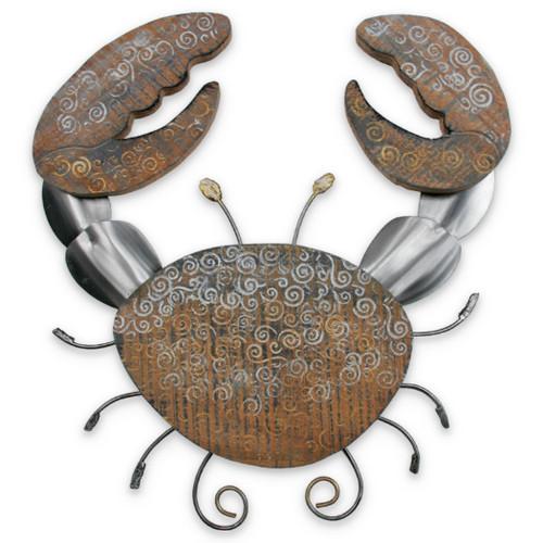 Crab Metal and Wood Beach Junk C514