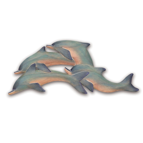 Wooden Dolphins Wall Art