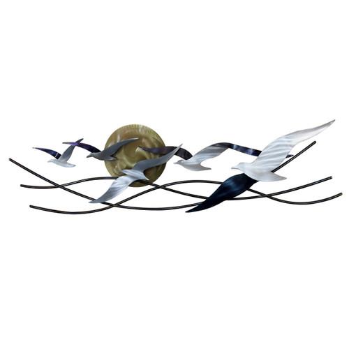 Winged Surfers - Seagulls Scene Horizontal