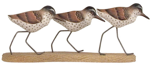 Sandpiper Triple Running Beach Sculpture