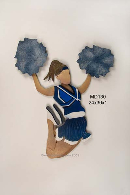 Cheerleader in Blue Kids Wall Decor