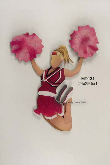 Cheerleader Kids Wall Decor