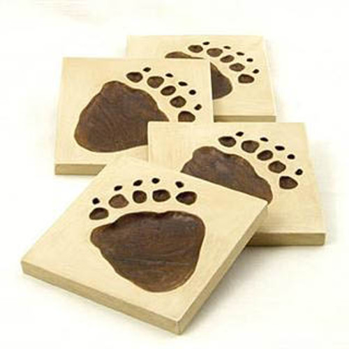 Bear Paw Coaster Set