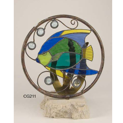 Angelfish Stain Glass Candle