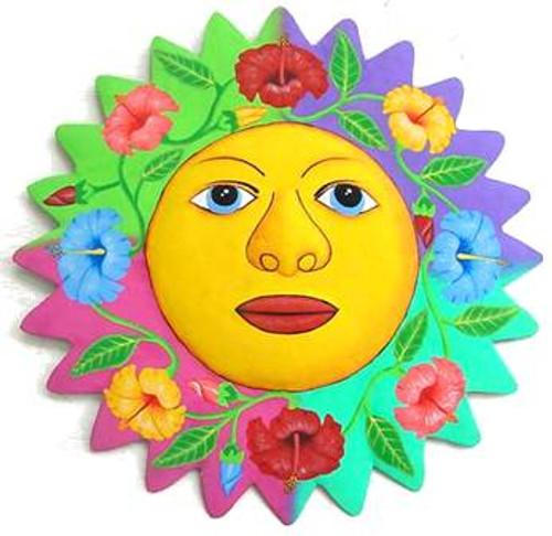 Hibiscus Sun Metal Wall Art