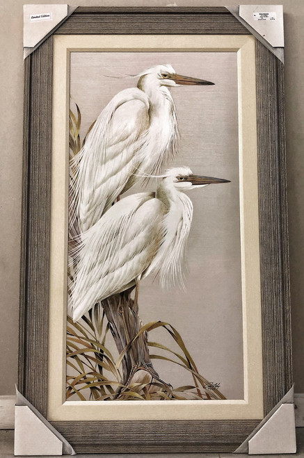 "Herons White Splendor - Painting 50"" x 30"""